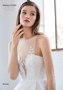 blends wedding dress