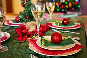 Newlyweds christmas table