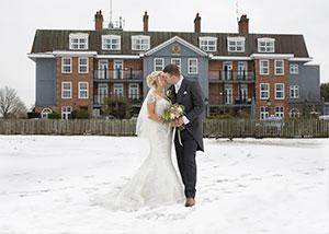 Winter wedding at luxury spa hotel
