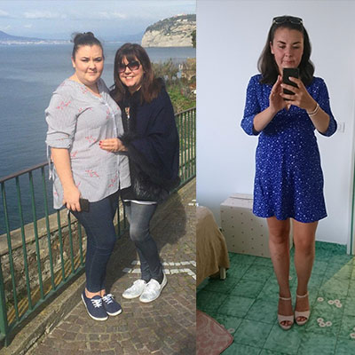 Aby Dingle before and after weight loss for dream wedding