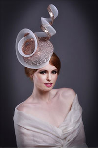 Beverley Edmondson wedding hat