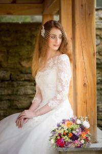 bride sat down