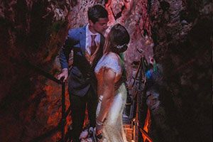 Wedding in the limestone show-caves