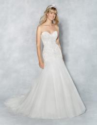 Wedding dress shape fit & flare