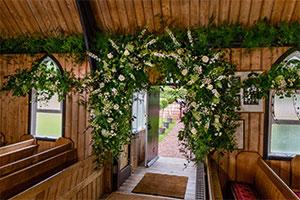 Enchanting wedding arch