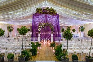 Wedding arch in marque