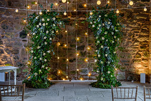 Wedding arch with lights