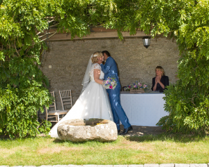 getting married outdoors at Pentillie Castle cornwall