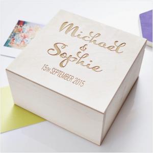 personalised keepsake box wedding gift