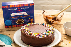A chocolate cake for people with dietary requirements, gluten and dairy free