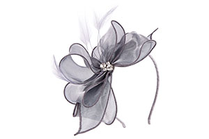 Grey pearl and bow from fascinator collection