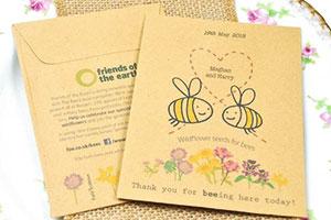Green wedding thank you card