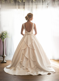 honey back style wedding dress