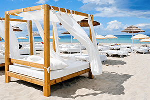 Ibiza wedding beach beds