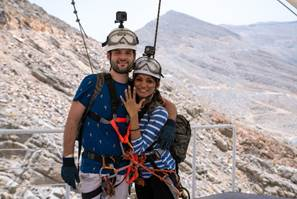 Groom Takes Flight to Propose on World's Longest Zipline