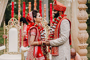 Indian wedding couple - wedding traditions