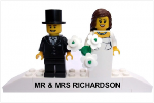 lego wedding cake topper quirky wedding gift