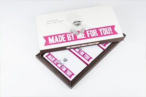 A personalised chocolate wedding favour