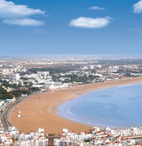 morocco daytime view of agadir bay