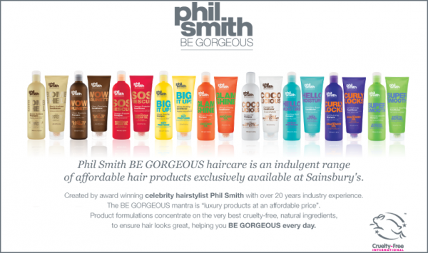 phil smith be gorgeous haircare range