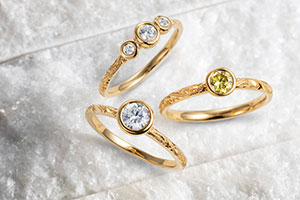 Ethical engagement ring designs by Arabel Lebrusan