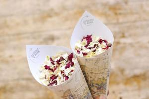 travel pattern theme personalised confetti cones