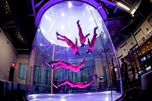 Healthy hen and stag do - Indoor skydiving
