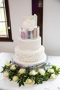 Stable Cottage Cakes wedding cakes surrey silver