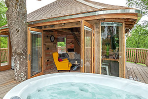 Stag and hen parties - Coolstays' Trawscwm Treehouse at Llandrindod Wells - Powys