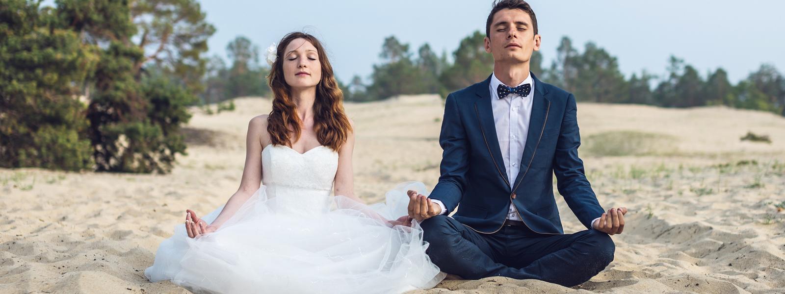 Couple De-stress For Their Wedding