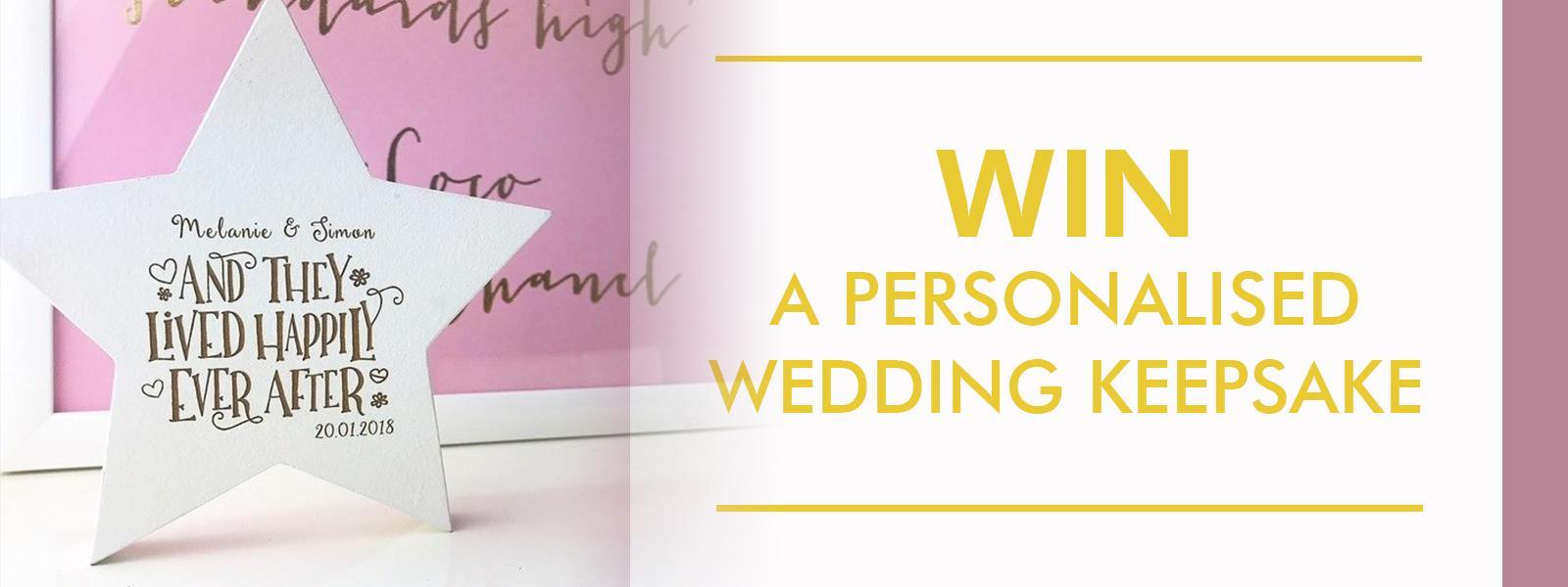 Win a wedding keepsake