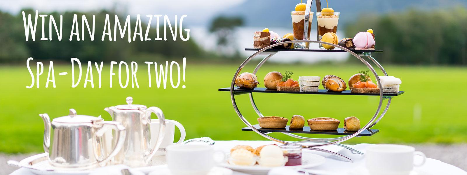 The afternoon tea which is included in the Spa day