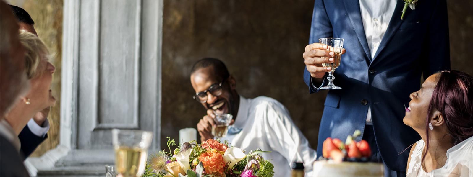 Delivering a confident wedding speech - a wedding breakfast