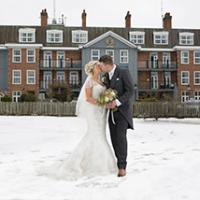 Winter wedding at luxury spa hotel