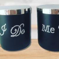 Darling Diva: I Do, Me Too personalised his & hers wedding candles
