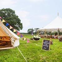 Get the look: a festival wedding at Careys Manor