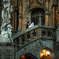 Rachael and Ivan at wedding