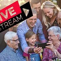 family wedding on live stream