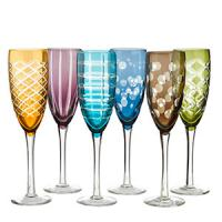 WIN a set of 6 stunning mixed-cuttings champagne glasses from Hurn& Hurn