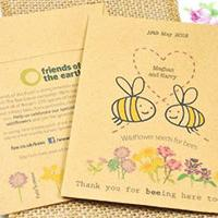 Friends of the earth thank you card with bees on