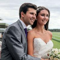 Happily married couple at Liverpool wedding venue