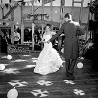 Couple dancing at Jimmy's farm