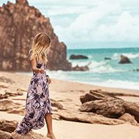 Girl wearing MAAJI swimwear collection