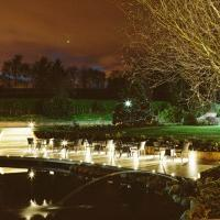 Moddershall Oaks outside wedding ceremonies view of the lake at night
