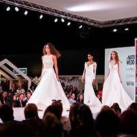 Wedding dresses at wedding show
