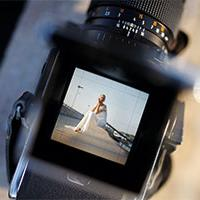 Wedding video on camera