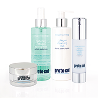 A collection of proto-col skincare products you can win