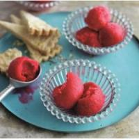 raspberry gin sorbet with lavender thins recipe