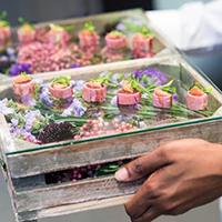 Rocket Food - a wedding canapés tray