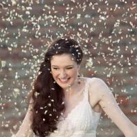 lady in confetti